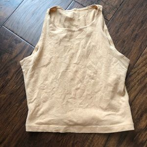 AA cotton spandex sleeveless crop top